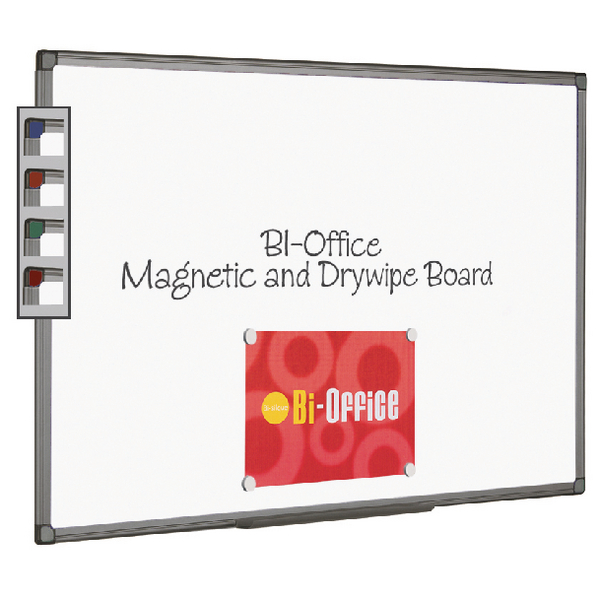Bi-Office Magnetic Whiteboard 900x600mm Aluminium Finish MB0706186