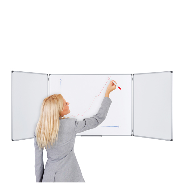 Bi-Office Trio Magnetic Whiteboard 1200x900mm TR02020509170