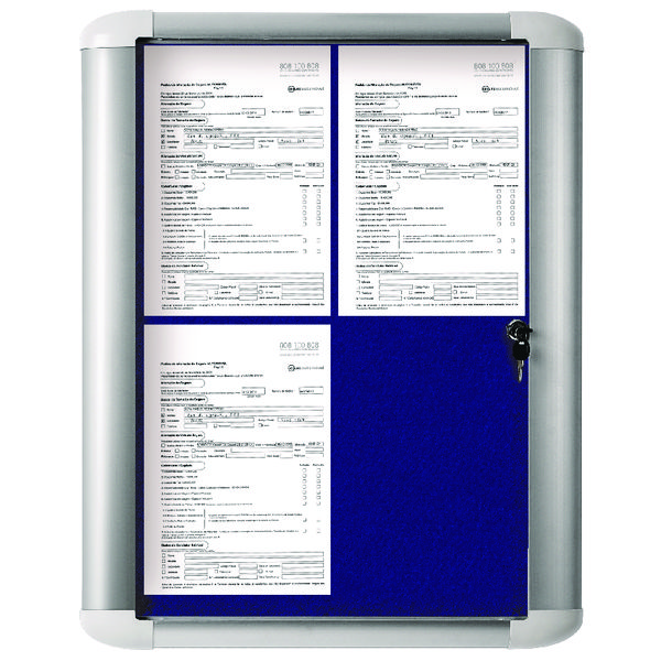 Bi-Office External Display Case 450x614mm Blue VT610107760