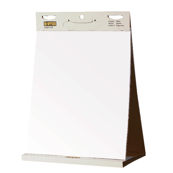 Bi-Office Table Top Self-Stick Flipchart Pad 585x500mm 20 Sheets White FL148303