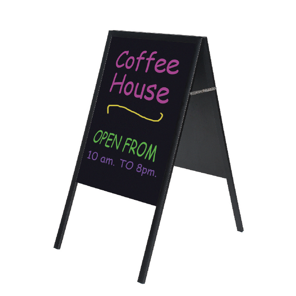 Bi-Office A-Frame Chalkboard 600x1200mm Black DKT30404042