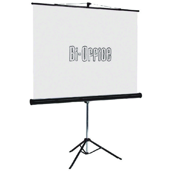 Image for Bi-Office Black 1750mm Tripod Projection Screen 9D006021