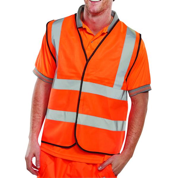 Hi-Viz Vest Orange EN ISO 20471 Large WCENGORL