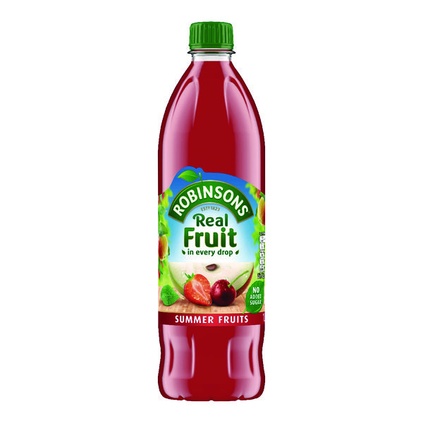 Robinsons No Added Sugar Summer Fruits Squah 1 Litre 206937