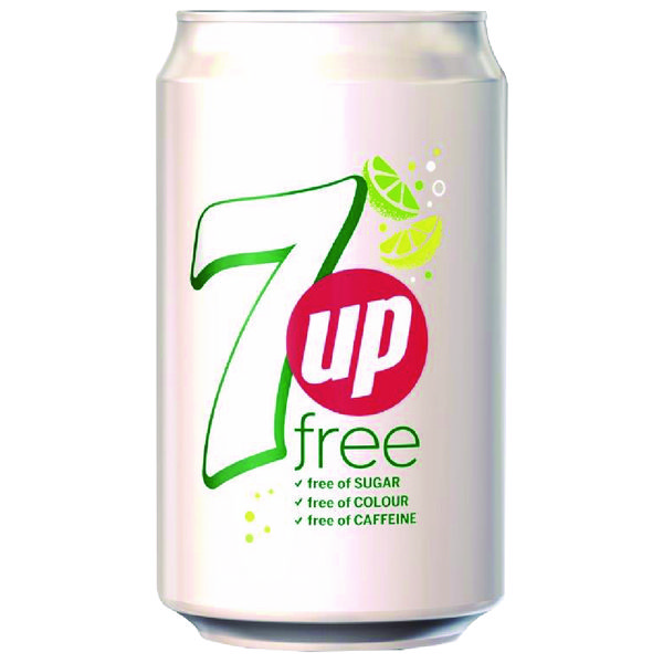 Diet 7-Up Lemon and Lime Carbonated Canned Soft Drink 330ml (Pack of 24) 402049