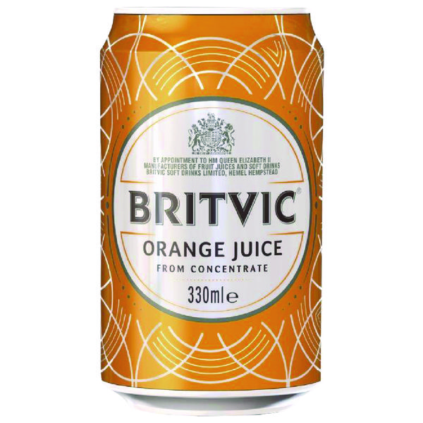 Britvic Orange Juice 330ml Can (Pack of 24) 402045