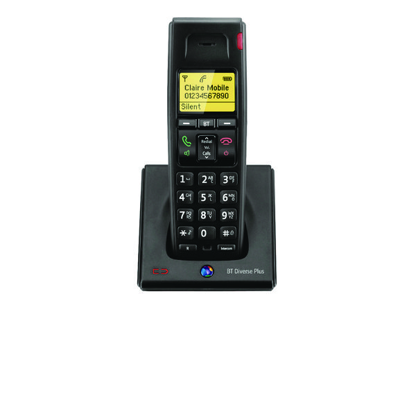 BT Diverse 7100 R DECT Cordless Phone Additional Handset Black 060748