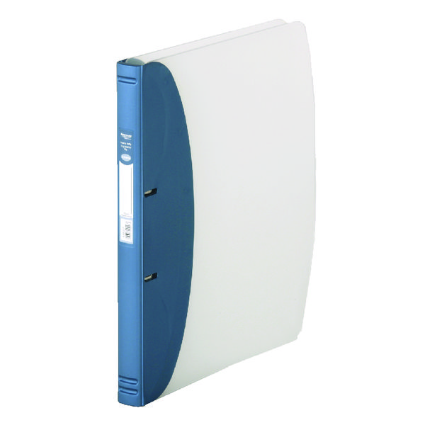 Hermes Heavy Duty Ring Binder Polypropylene A4 Metallic Blue 332207