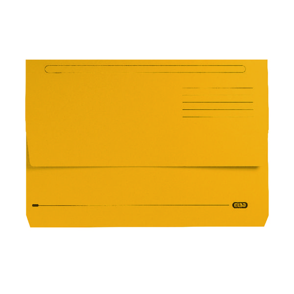 Elba Strongline Document Wallet Bright Manilla Foolscap Yellow (Pack of 25) 100090141