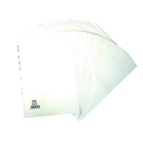 Elba 20-Part Divider 160gsm White A4 400007500