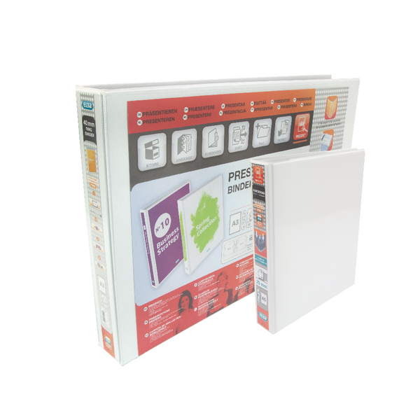 Elba Panorama White A5 Plus 25mm 2 D-Ring Presentation Binder (Pack of 6) 400008434