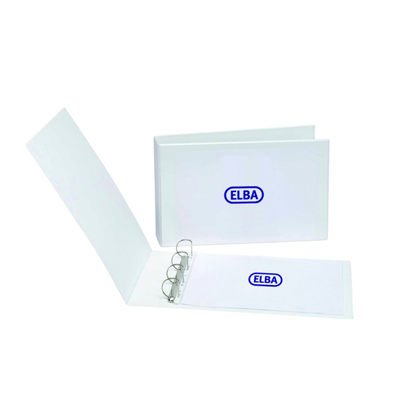 Elba Panorama 30mm 4 D-Ring Presentation Binder A3 White (Pack of 2) 400008435