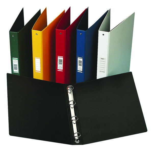 Elba Vision 25mm 4 O-Ring Binder PVC A4 Black 100080881