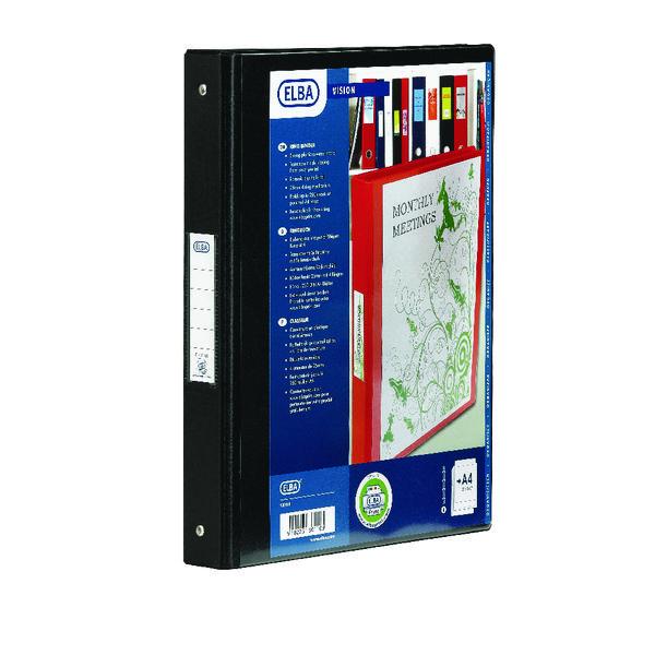 ELBA VISION 2-RING BINDER A4 25MM BLK