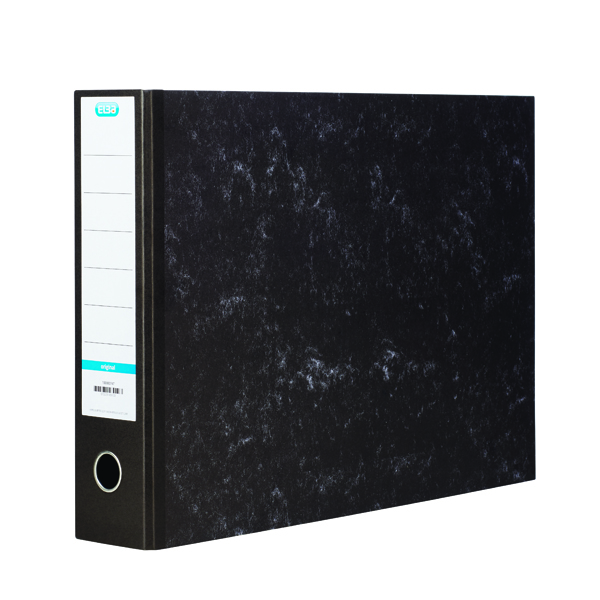Elba 70mm Lever Arch File Oblong A3 Black 100080747