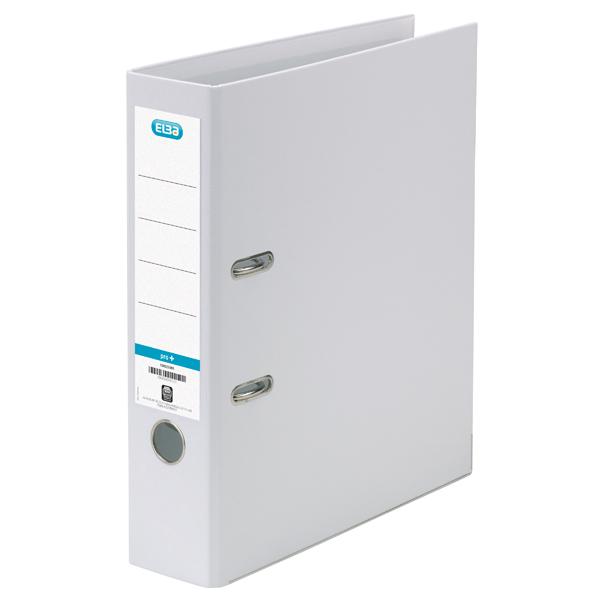 Elba 70mm Lever Arch File Plastic White A4 100080902