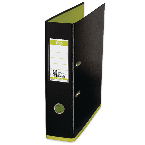 Mycolour Black/Lime A4 Lever Arch File