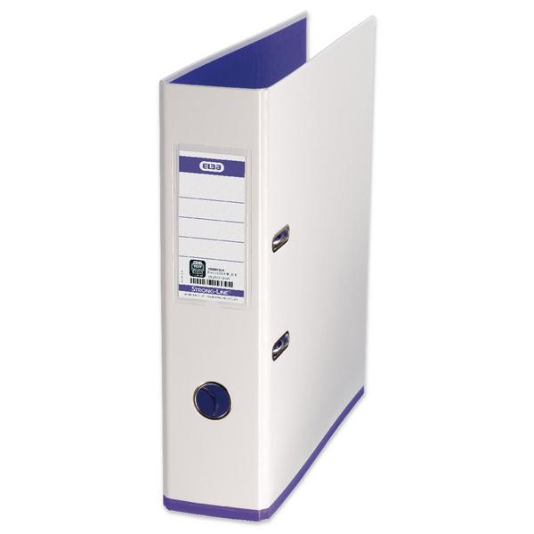 Elba MyColour A4 White and Purple Lever Arch File 100081030