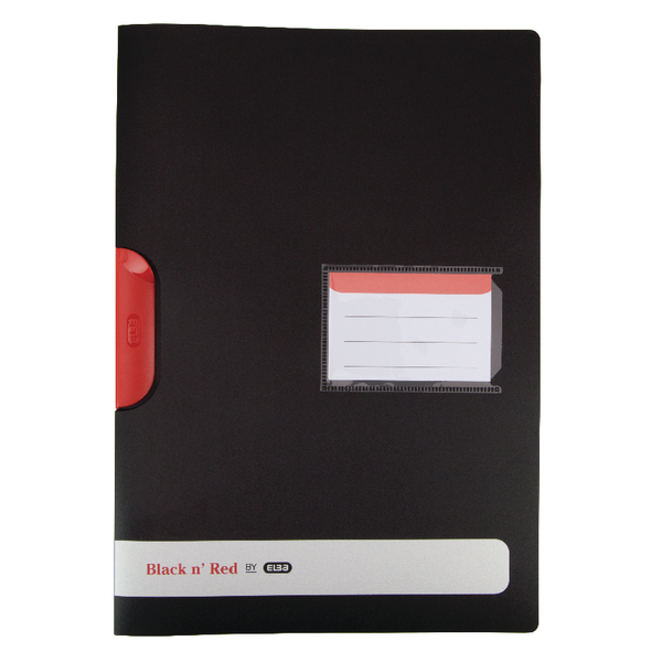 Elba Black n Red Polypropylene Clip File A4  (Pack of 5) 400063613
