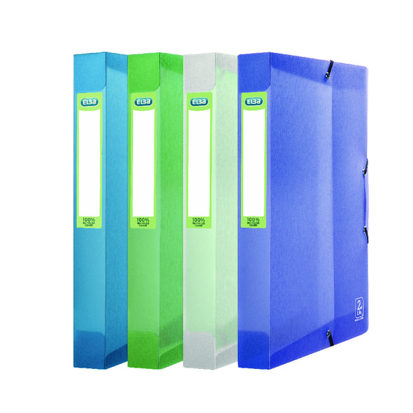 Elba 2nd Life Box File A4 Assorted (Pack of 4)