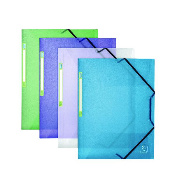 Elba 2nd Life Three Flap Folder A4 Assorted (Pack of 4) 400066419