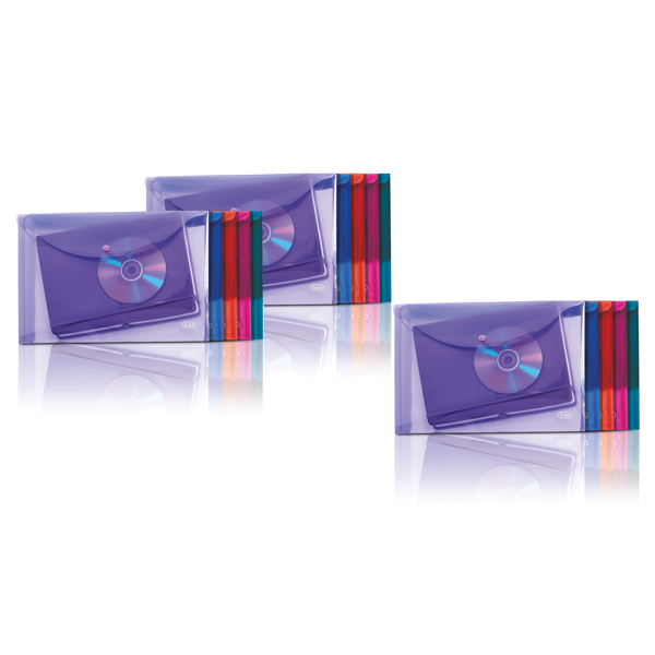 Elba Stud Wallet Polypropylene A4 Assorted 3FOR2 (Pack of 2 + 1)