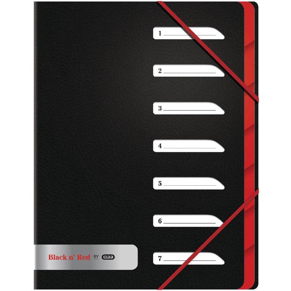 Black n Red 7-Part Folder A4 BOGOF