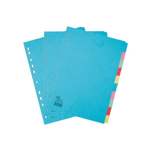 Elba A4 10 Part Card Dividers
