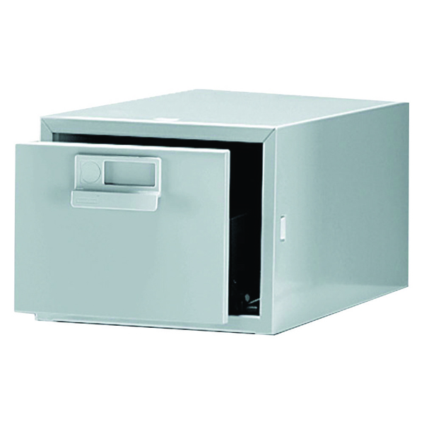 Image for Bisley 8x5 Inches Single Grey Card Index Cabinet FCB15