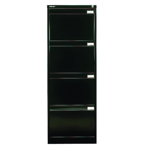 Bisley Black Four-Drawer Filing Cabinet BS4E Black