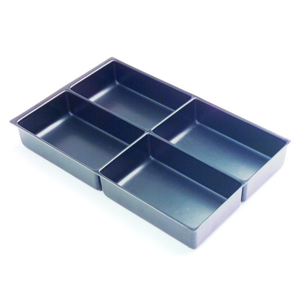 Image for Bisley Multi Drawer Insert Tray Plastic 51mm High 4 Compartments