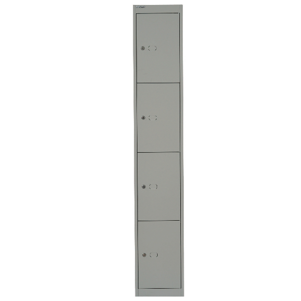 Image for Bisley Goose Grey 4 Door Locker W305xD457xH1802mm