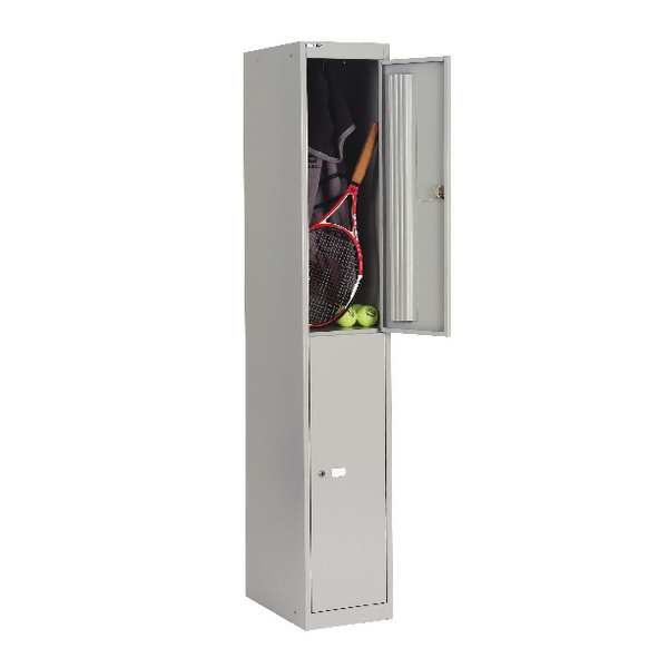 Image for Bisley Goose Grey 2 Door Locker W305xD305xH1802mm