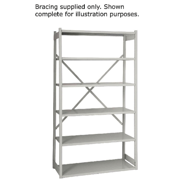 Image for Bisley Shelving Bracing Kit W1000mm Grey 10ESEBK-AT4 (0)