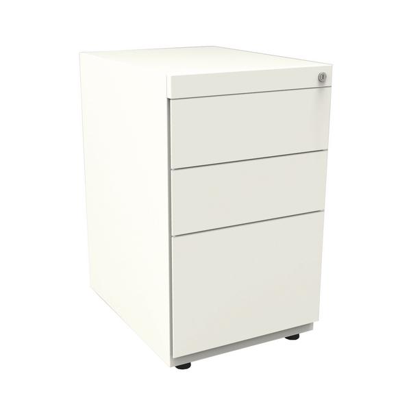 Bisley Note Pedestal Free Standing 2 Stationery 1 Filing Drawer Chalk White