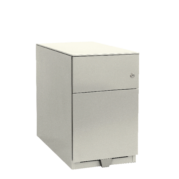Bisley Note Pedestal Mobile 1 Stationery 1 Filing Drawer Chalk White