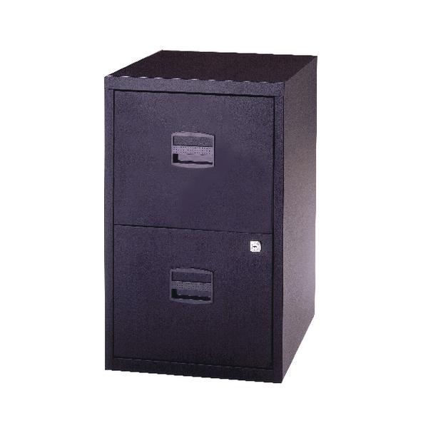 Bisley A4 Personal Filing 2 Drawer Lockable Black