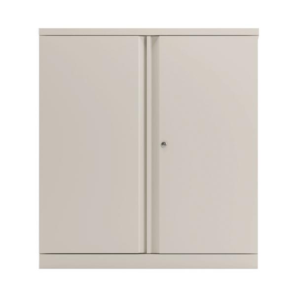 Bisley 2 Door 1000mm Cupboard Empty Chalk White KF78710