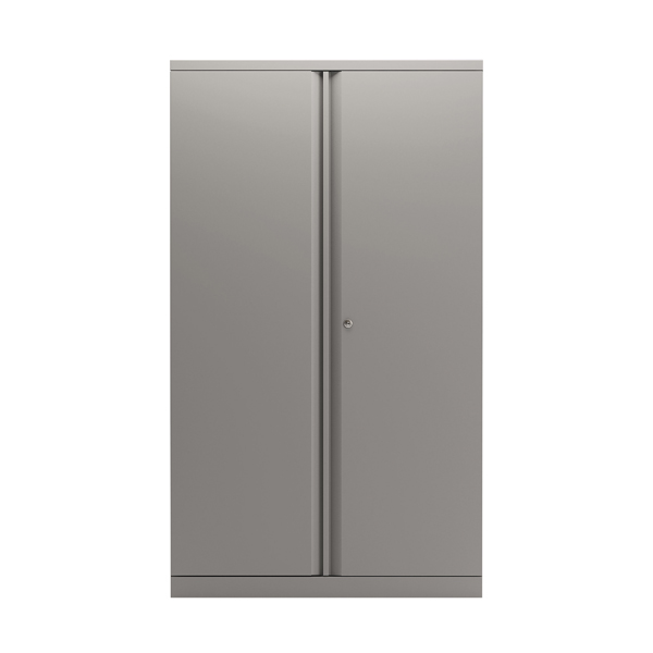 Bisley 2 Door 1570mm Cupboard Empty Goose Grey KF78712
