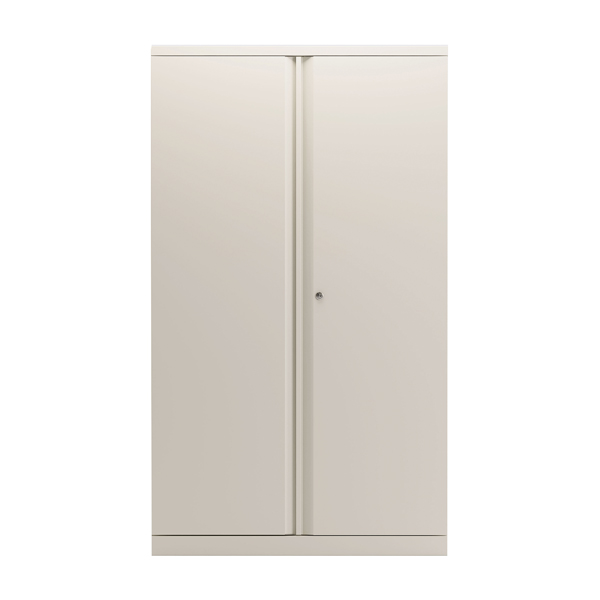 Bisley 2 Door 1570mm Cupboard Empty Chalk White KF78713