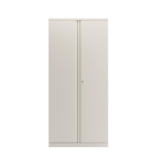 Bisley 2 Door Cupboard Chalk White 1985mm Empty KF78716