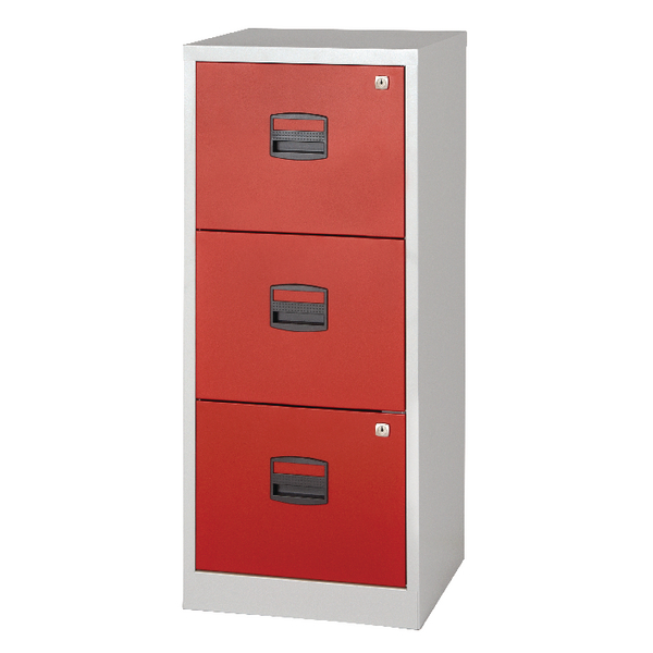 Image for Bisley A4 Homefiler 3 Drawer Grey Red