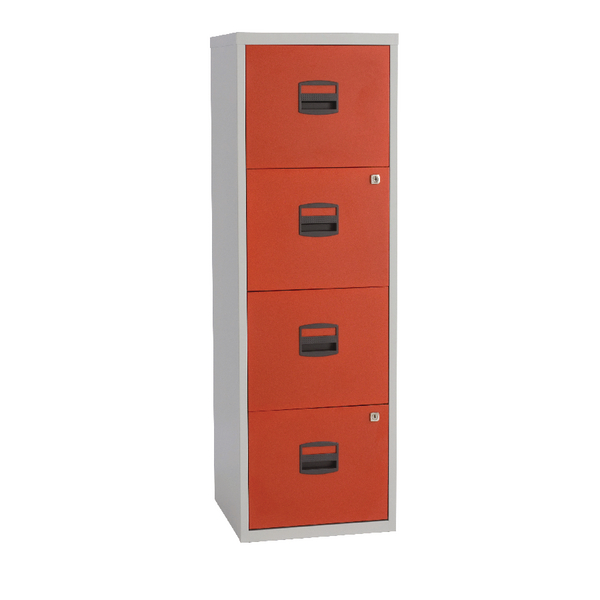 Image For Bisley A4 Homefiler 4 Drawer Grey Red