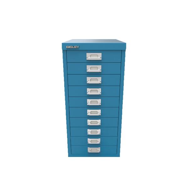 Bisley 10 Drawer Cabinet Azure Blue