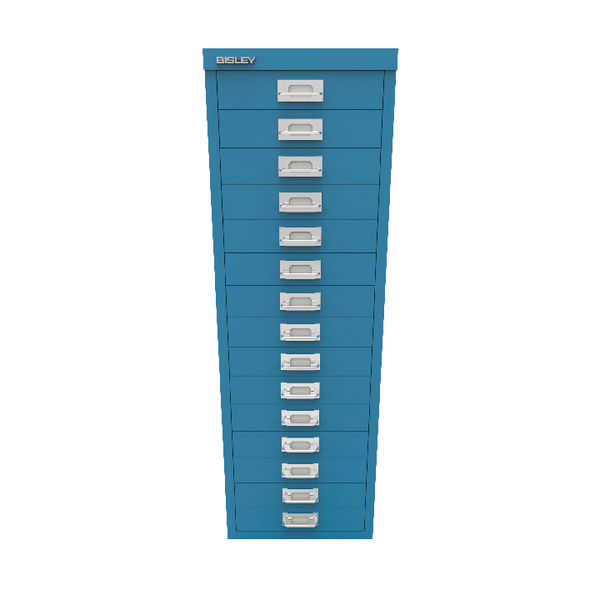 Bisley 15 Drawer Cabinet Azure Blue BY78741