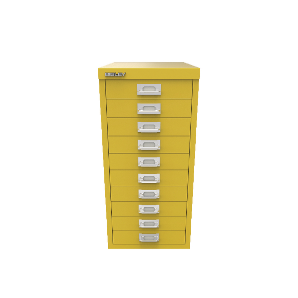 Bisley 10 Drawer Cabinet Canary Yellow