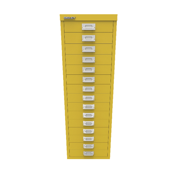 Bisley 15 Drawer Cabinet Canary Yellow