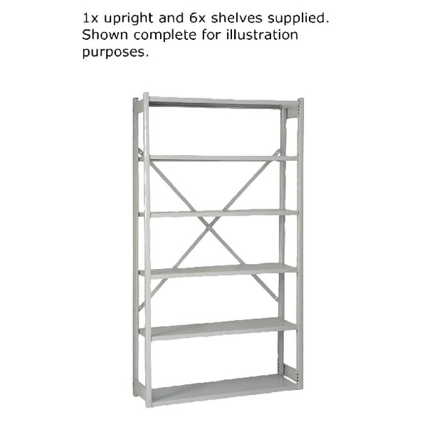 Bisley W1000xD300mm Grey Shelving Extension Kit BY838031