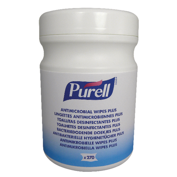 Purell Antimicrobial Sanitising Hand Wipes (Pack of 270) 9213-06-EEU00