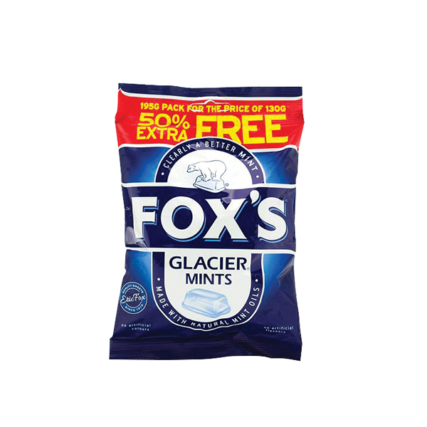 Foxs Glacier Mints 195g (No artifical colours or flavours) 0401004